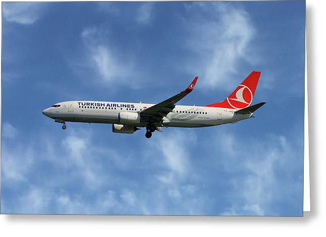 Turkish Airlines Boeing 737-8f2 Greeting Card