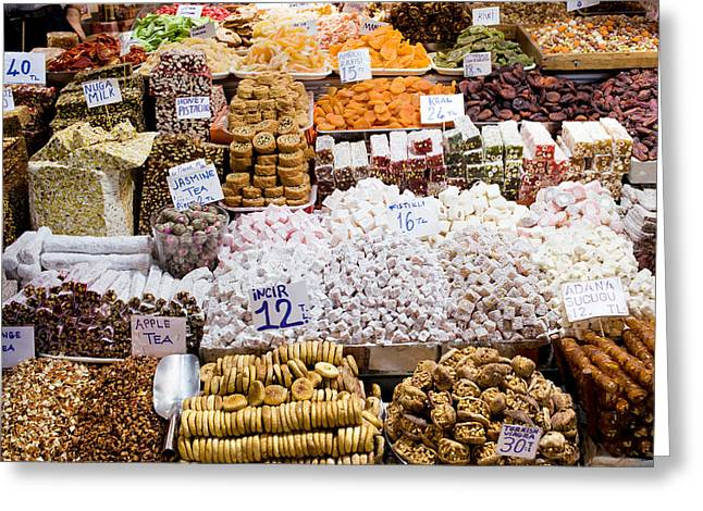 Turkish Delight In Istanbul Greeting Card by Artur Bogacki