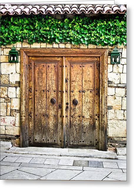 Turkish Door Greeting Card by Tom Gowanlock