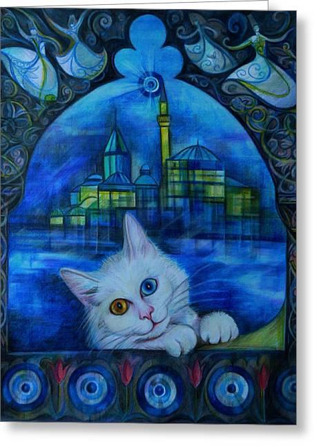 Turkish Fantasy Greeting Card by Anna Duyunova