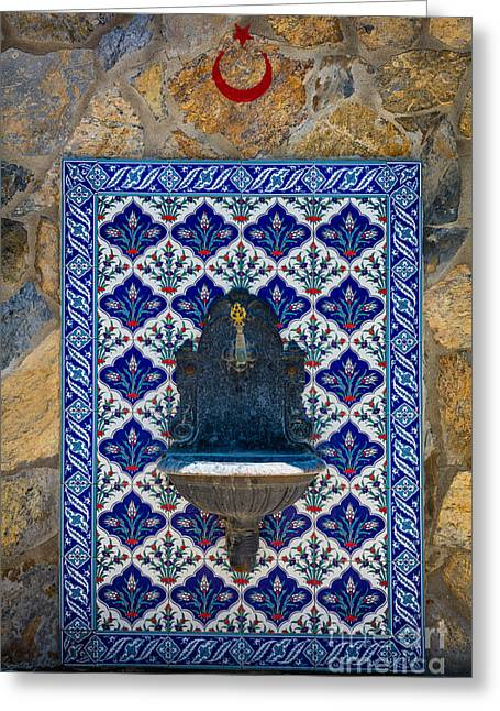 Turkish Fountain Greeting Card by Inge Johnsson