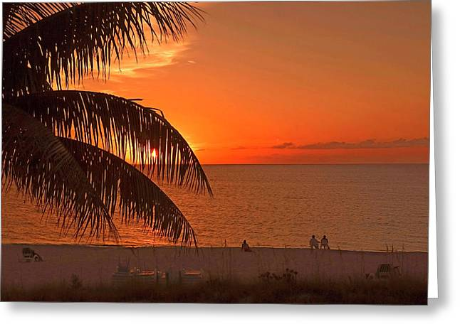 Turks And Caicos Sunset Greeting Card by Stephen Anderson