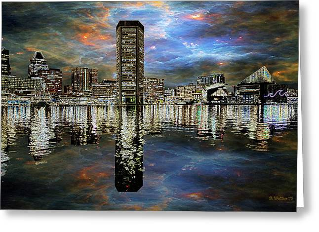 Turmoil In The City Greeting Card by Brian Wallace