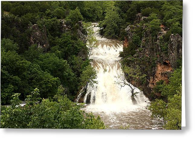 Turner Falls Waterfall Greeting Card