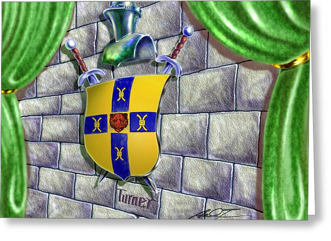 Turner Family Crest Greeting Card