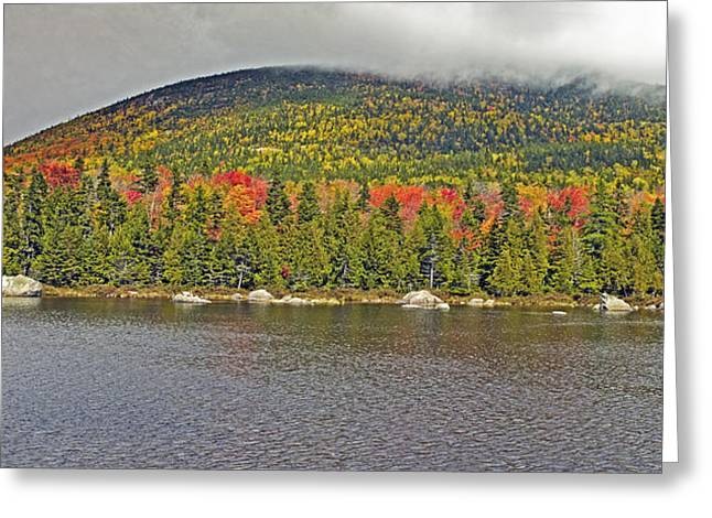 Turner Mountain From Sandy Stream Pond During Fall In Baxter State Park Maine Greeting Card by Brendan Reals