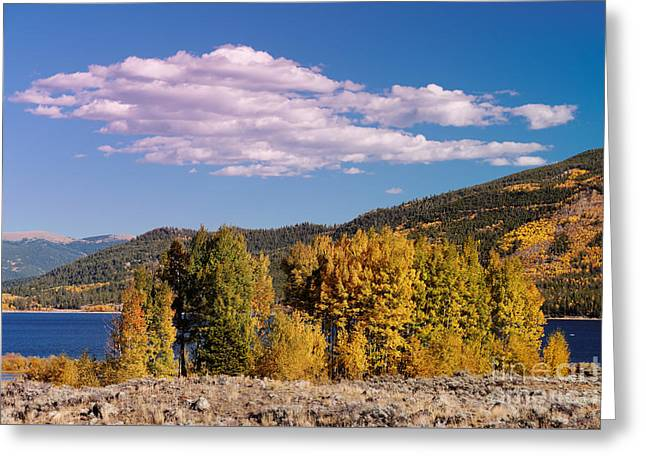 Turning Aspens And Wandering Clouds - Twin Lakes Arkansas River Valley - Rocky Mountains Colorado Greeting Card