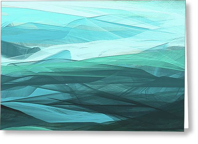 Turquoise And Gray Modern Abstract Greeting Card
