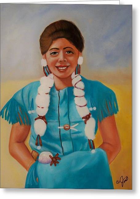 Turquoise Beauty Greeting Card by Joni McPherson