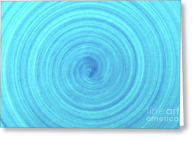 Turquoise Blue Ceramic Texture Background Greeting Card by Radu Bercan