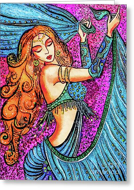 Turquoise Dancer Greeting Card