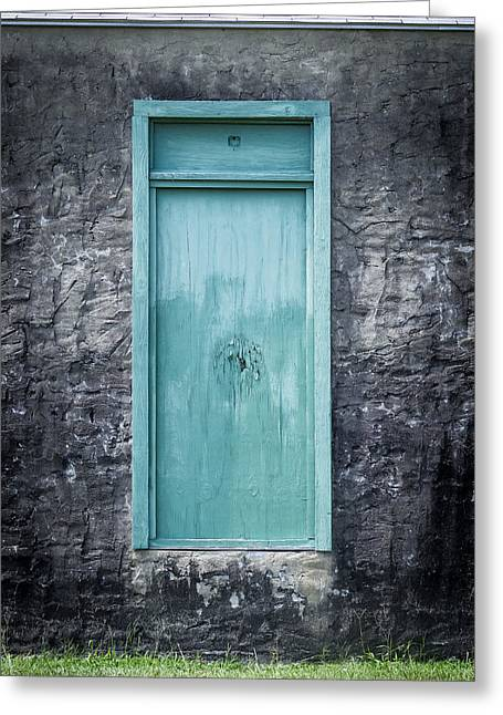 Turquoise Door Greeting Card