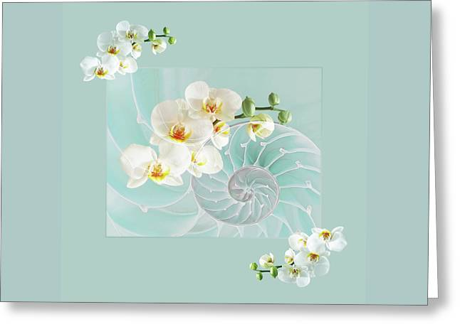 Turquoise Fusion Greeting Card by Gill Billington