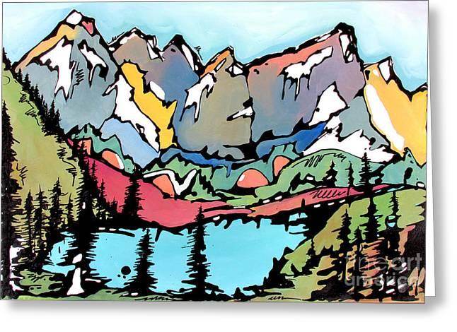 Turquoise Lake At Mt. Elbert Greeting Card