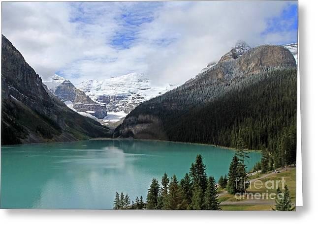 Turquoise Lake Greeting Card