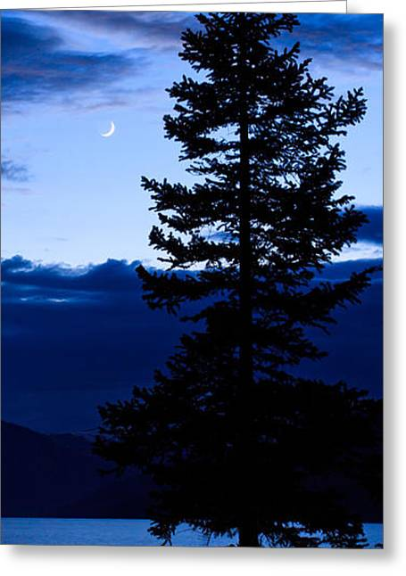Turquoise Lake Twilight Greeting Card by Adam Pender