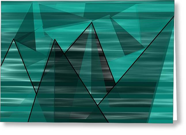 Turquoise Mountains Greeting Card