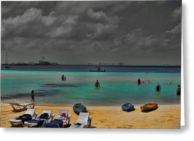 Cancun Greeting Cards - Turquoise Paradise Greeting Card by Douglas Barnard