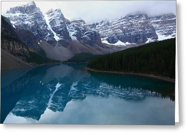 Turquoise Reflection At Moraine Lake Greeting Card