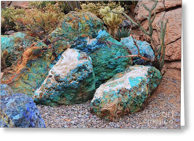 Turquoise Rocks Greeting Card