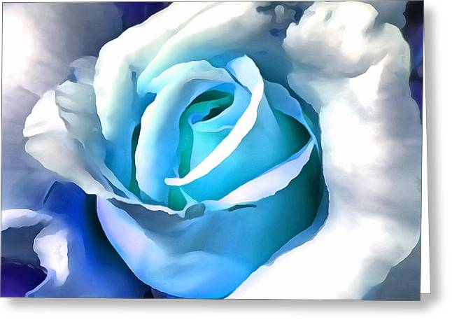 Turquoise Rose Greeting Card