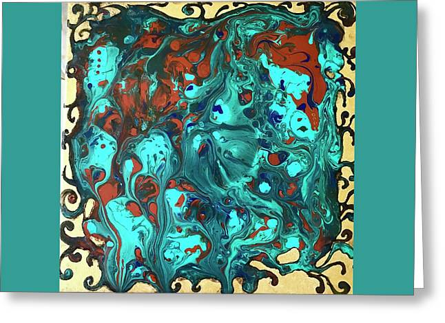 Turquoise Splash Greeting Card