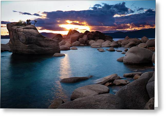 Mystical Landscape Greeting Cards - Turquoise Tahoe Waters Greeting Card by Renee Sullivan