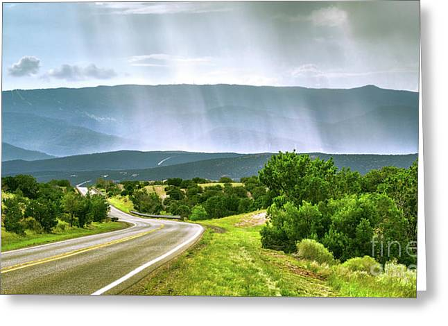 Turquoise Trail Greeting Card