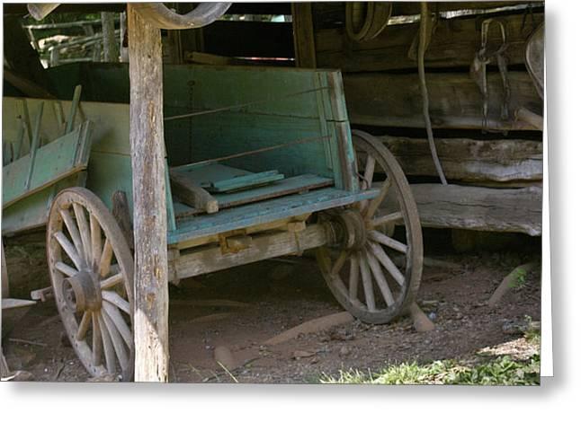 Buckboard Greeting Cards - Turquoise Wagon 1 Greeting Card by Douglas Barnett