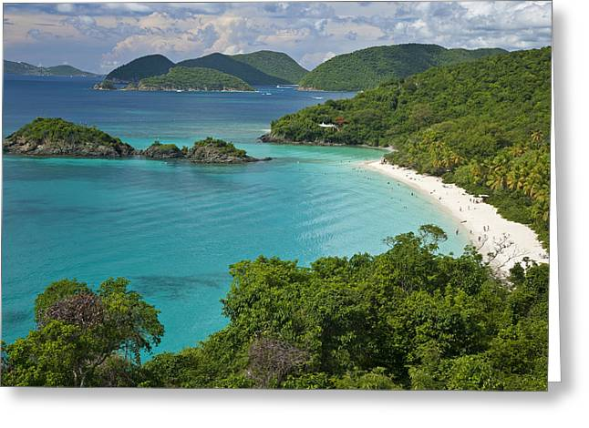 Turquoise Water At Trunk Bay, St. John Greeting Card by Michael Melford