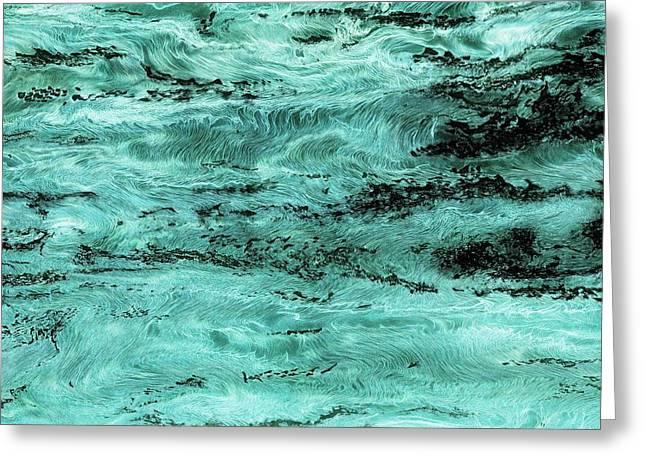 Turquoise Water Greeting Card by Paul Tokarski