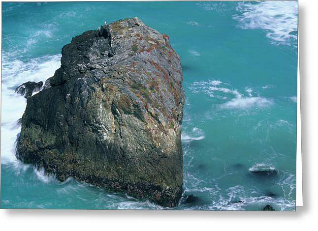 Turquoise Waters - Highway One California Greeting Card by Soli Deo Gloria Wilderness And Wildlife Photography