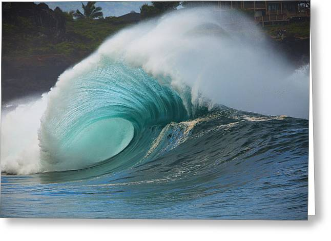 Turquoise Wave Peak Greeting Card by Dana Edmunds - Printscapes