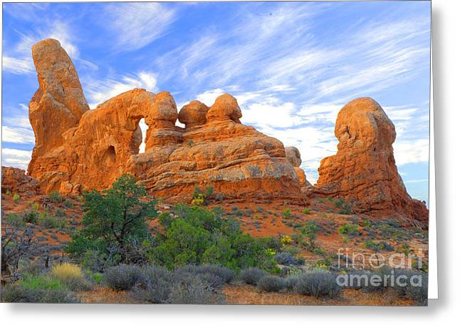 Turret Arch Greeting Card by Dennis Hammer