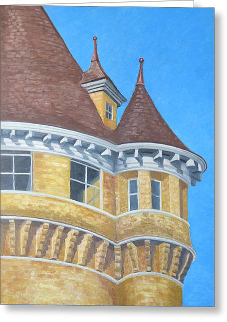 Turrets Of Lawson Tower Greeting Card