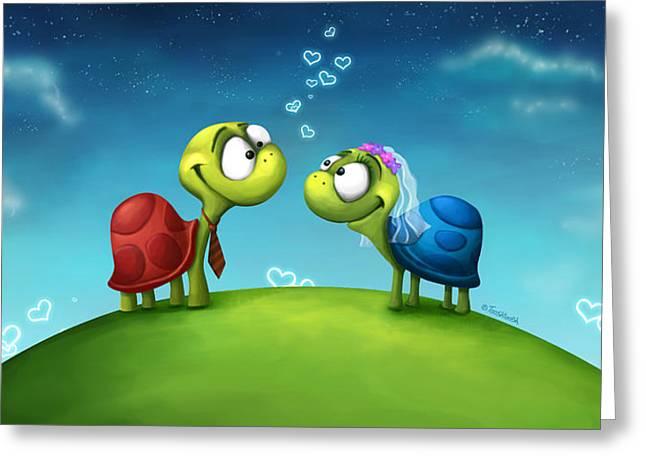 Turti And Turto Greeting Card by Tooshtoosh