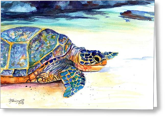 Turtle At Poipu Beach 2 Greeting Card