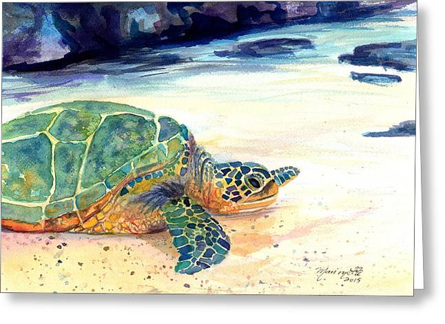 Turtle At Poipu Beach 5 Greeting Card