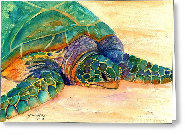 Turtle At Poipu Beach 7 Greeting Card by Marionette Taboniar