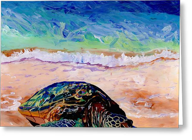 Turtle At Poipu Beach 9 Greeting Card