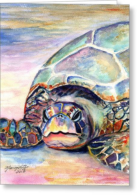 Turtle At Poipu Beach Greeting Card