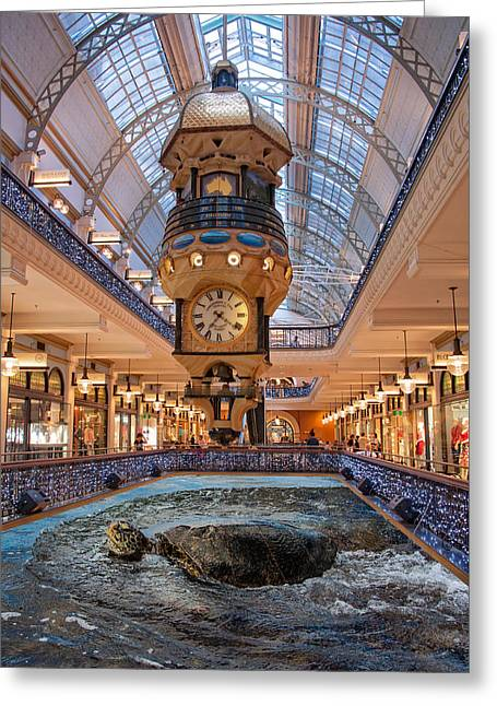 Greeting Card featuring the photograph Turtle At The Mall by Harry Spitz