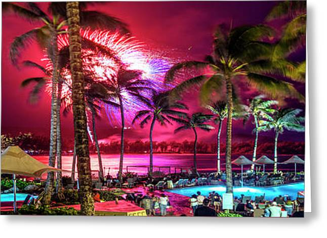 Turtle Bay - Independence Day Greeting Card by Sean Davey