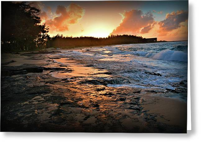 Turtle Bay Sunset 1 Greeting Card