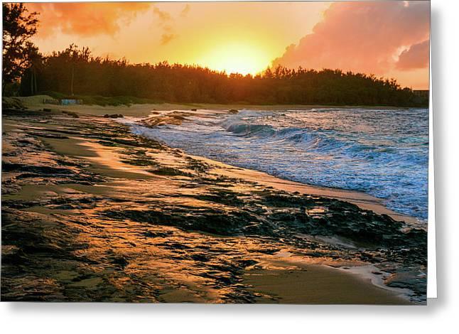 Turtle Bay Sunset 2 Greeting Card