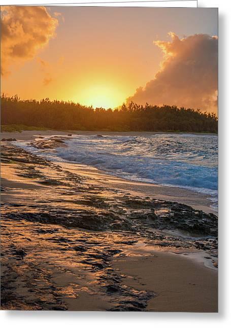 Turtle Bay Sunset 3 Greeting Card