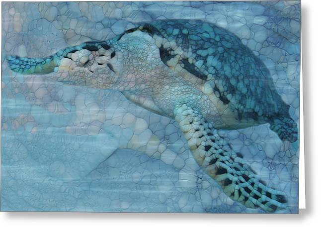 Turtle - Beneath The Waves Series Greeting Card