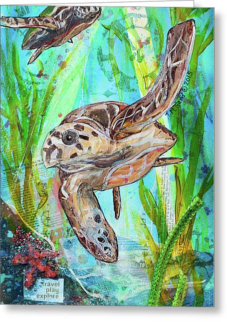 Greeting Card featuring the painting Turtle Cove by TM Gand