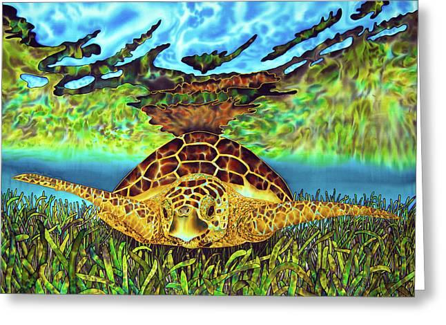 Turtle Grass Greeting Card by Daniel Jean-Baptiste