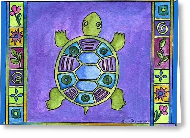 Turtle Greeting Card by Pamela  Corwin